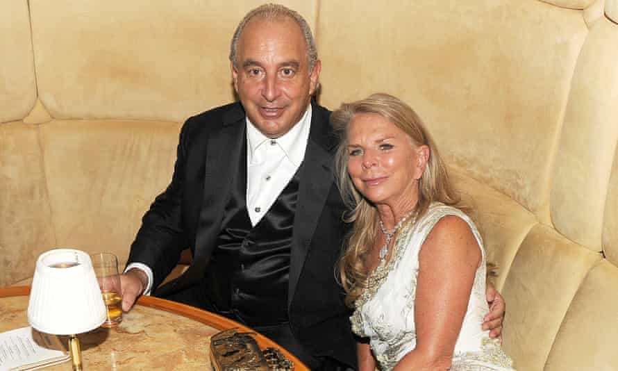 Sir Philip and Lady Green at a benefit party in the Standard hotel, New York, in 2011.