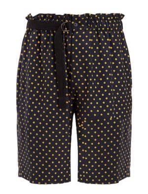 Laura spot silk trousers