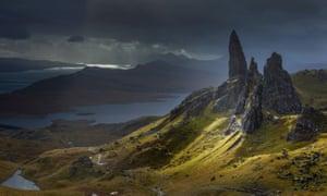 The Trotternish Ridge on the Isle of Skye.