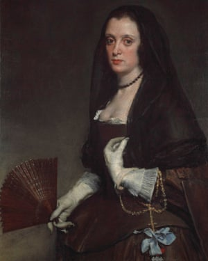 Detail from The Lady with a Fan by Diego Velázquez