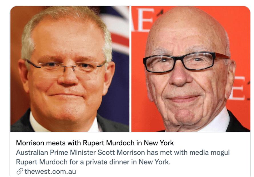 The meeting between Scott Morrison and Rupert Murdoch never happened.