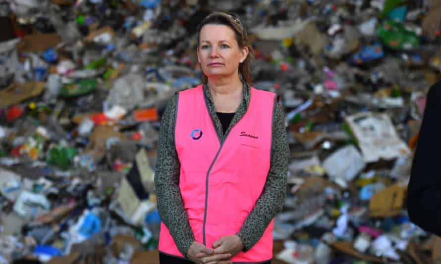 File photo of Australia's environment minister Sussan Ley at a recycling facility