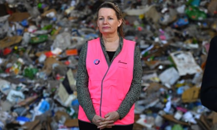 Australia's environment minister Sussan Ley at a recycling facility in Canberra on 15 July 2020