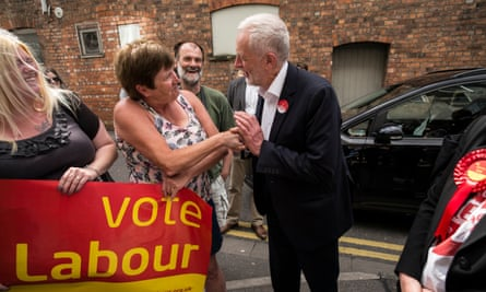 Jeremy Corbyn campaigning in Lincoln, June 2017.