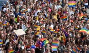 LGBT pride in Strasbourg on June 15, 2019