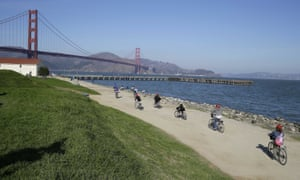 San Francisco's Crissy Field, the site of the rightwing rally. Dog owners are said to be stockpiling excrement to carpet the field.