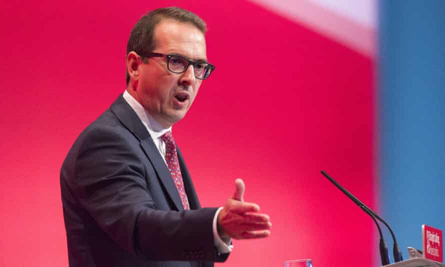 Owen Smith speaking at the Labour party conference.