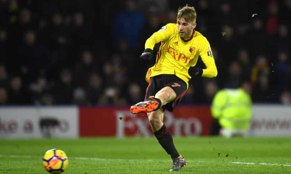 Gerard Deulofeu rolls home the third Watford goal on a night when they beat 10-man Chelsea 4-1.