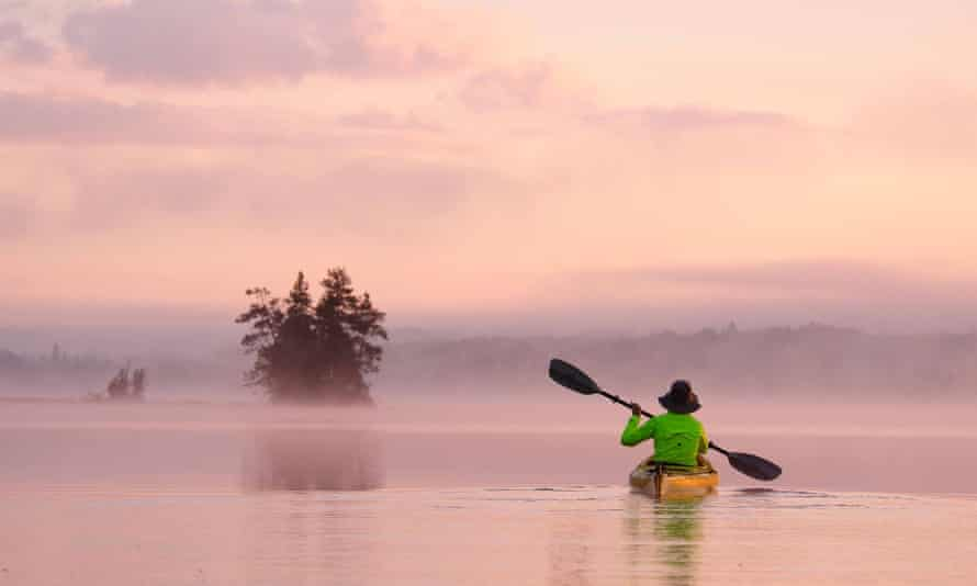 Kayaking on Birch Lake in the Boundary Waters canoe area