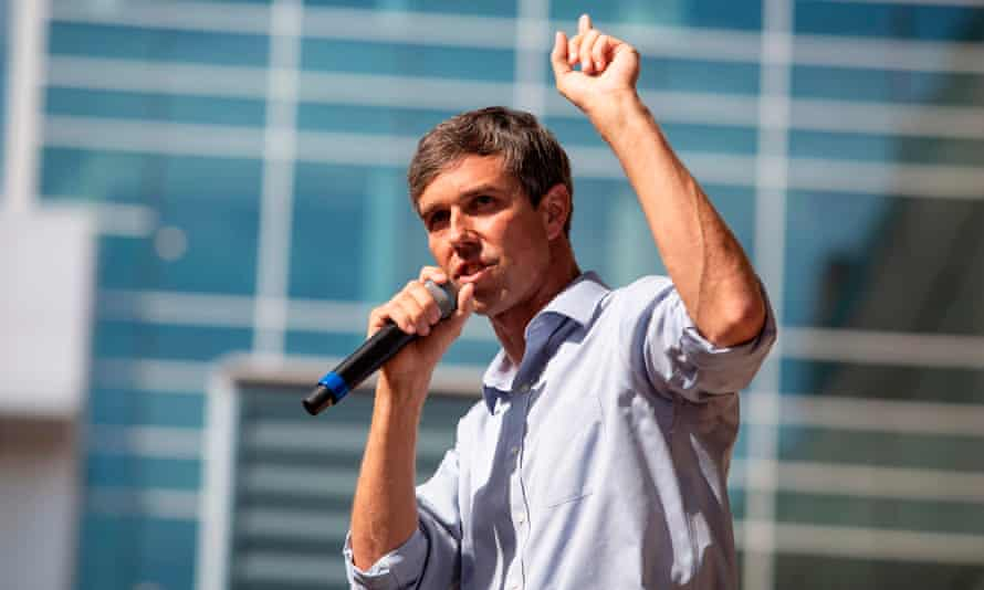 Beto O'Rourke speaks during a campaign rally in Plano, Texas on 15 September.