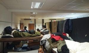 Refugee camp in Wurzburg Germany.
