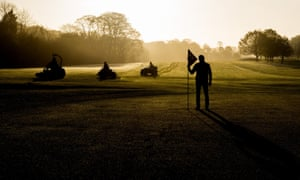 County Offaly, Ireland Mark Murphy and his team of greenkeepers prepare the Tullamore Golf Club for its re-opening to the public