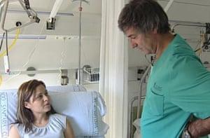 Claudia Castillo with Dr Paolo Macchiarini.