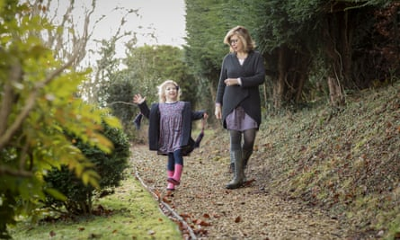 Alice Jolly and Hope at home in Gloucestershire.