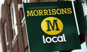 A sign for a Morrisons Local supermarket.