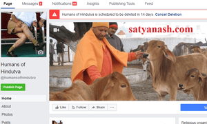 The Facebook page Humans of Hindutva which has had to close after its author received death threats in India.