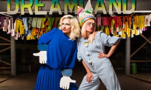 Amy Redmond, AKA Amy Zing, right, with friend Tracey Ermine at Margate's Dreamland.