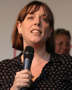Jess Phillips speaks in Parliament Square during the October 2019 People's Vote demonstration.