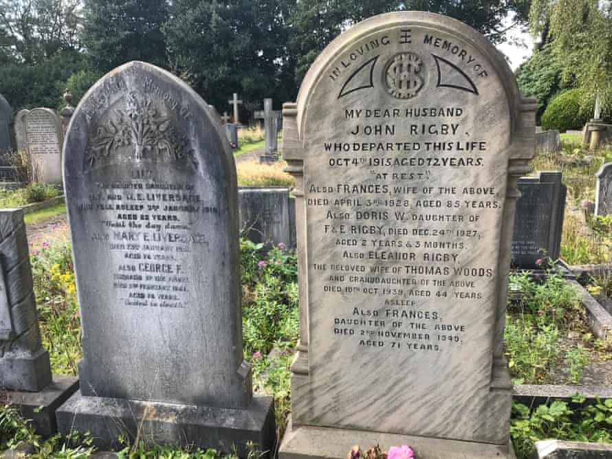 The headstone of Eleanor Rigby in the cemetery of St. Peter's Church, Woolton.