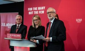 Corbyn, McDonnell, Long-Bailey