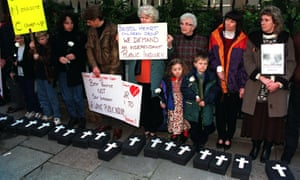 Parents and supporters of the dozens of children who died or were brain damaged following heart surgery at Bristol Royal Infirmary.