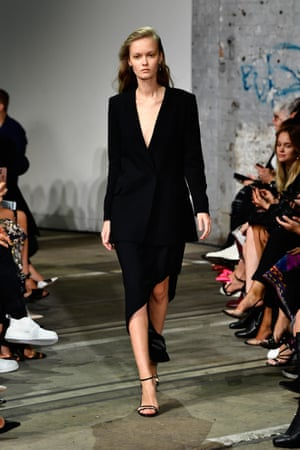 Update your reliable little black dress with a long black dress, like Bianca Spender's take on the contemporary classic