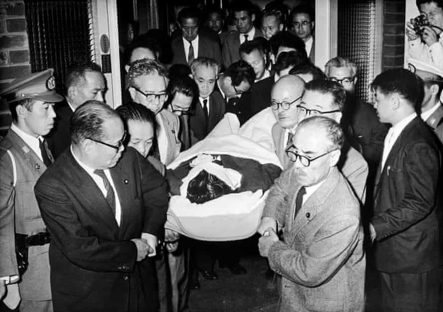 Assassination of Inejiro Asanuma, leader of the Japanese Socialist Party, 12 October 1960.