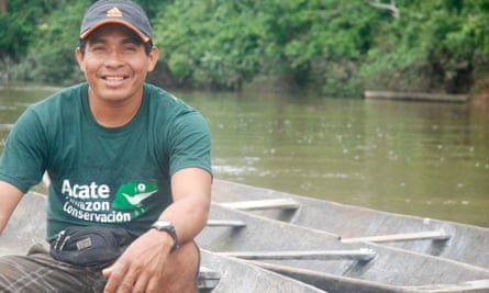 Felipe Epe Bai Una, one of the Matsés on Acaté's full-time staff.