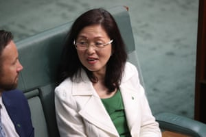 The member for Chisholm Gladys Liu in the House of Representatives chamber of Parliament House, Canberra this morning.