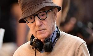 Woody Allen at work in 2017 in New York.