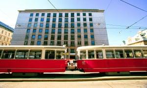 Vienna tram, city centre.