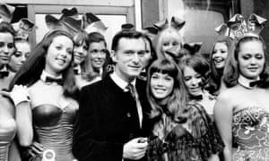 Hugh Hefner at the Playboy club, London, in 1969.