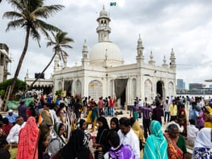 Women are banned from the inner chamber of the Haji Ali mosque in Mumbai.