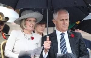 Prime Minister Malcolm Turnbull and his wife Lucy at the ceremony.