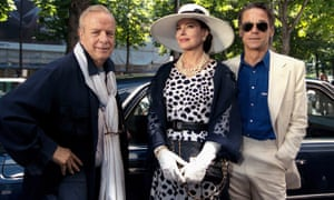 Franco Zeffirelli, Fanny Ardant and Jeremy Irons during filming of Callas Forever (2002).
