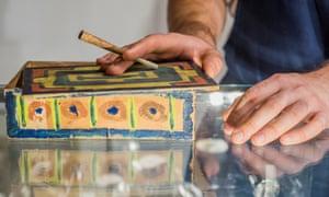 Pablo Picasso's cigarette box.