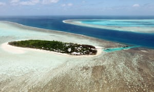Heron Island, a small sandy coral cay near the southern end of the Great Barrier Reef