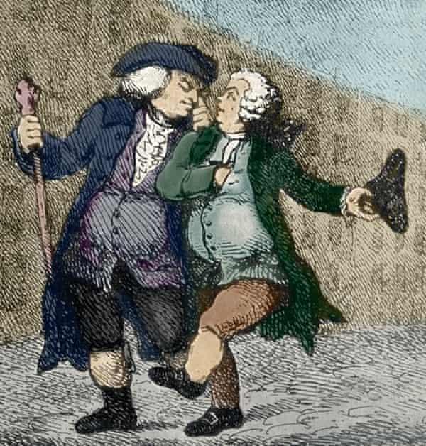 Samuel Johnson and James Boswell - illustration