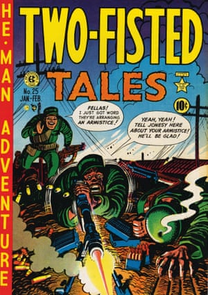 p. 217 The Harvey Kurtzman–illustrated cover of Two-Fisted Tales No. 25, January–February 1952. Copyright: TM & © William M. Gaines Agent, Inc.