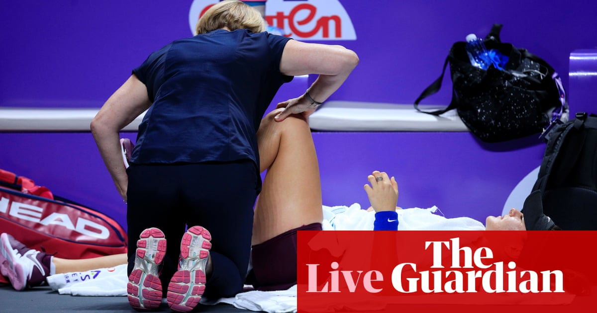 Karolina Pliskova wins as Bianca Andreescu retires: WTA Finals – live!