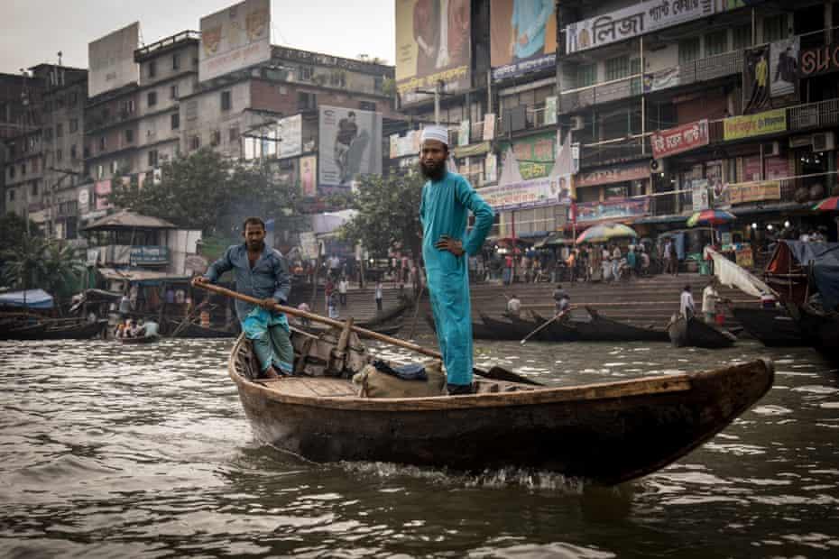 A Bangladeshi town waterway