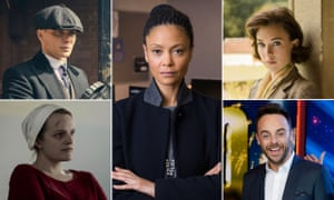 Composite image showing (from left) Cillian Murphy in Peaky Blinders, Thandie Newton in Line of Duty, Vanessa Kirby in The Crown, Ant McPartlin