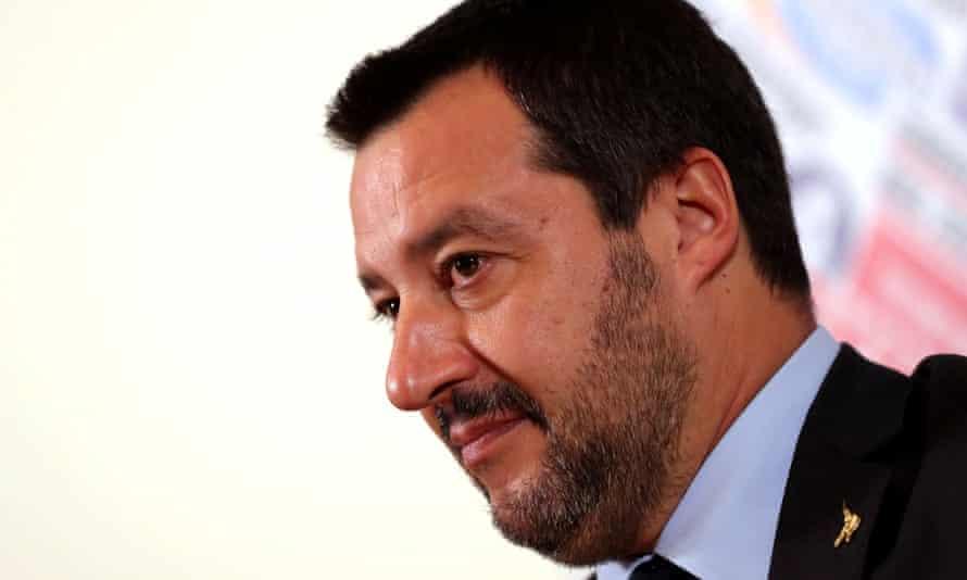 Italian deputy prime minister Matteo Salvini.