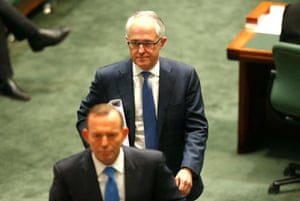 At Question Time on Monday, Malcolm Turnbull followed Prime Minister Tony Abbott out of the house of representatives and, soon thereafter, delivered the news in private of his leadership challenge.