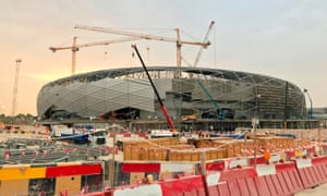 Education City Stadium in Doha, pictured in May. In June a worker employed there died in his lodgings.