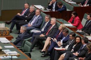 The opposition during question time
