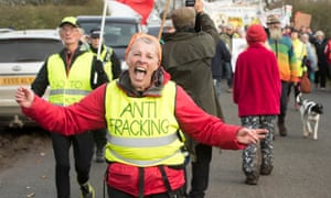 An anti-fracking march on 4 November from Kirby Misperton to the nearby fracking site.