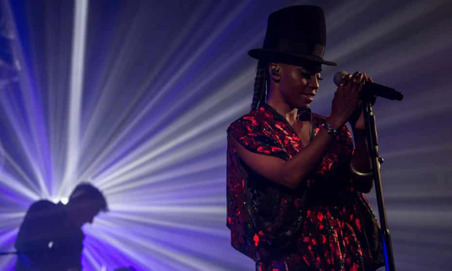 Skye Edwards from Morcheeba performs in concert.