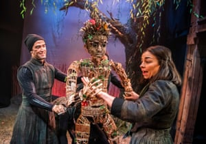 Yazdan Qafouri and Laura Johnson in The Wicker Husband at the Watermill. Its press night came on the same day as Boris Johnson's announcement to avoid theatres.