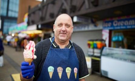 Darren Reasbeck holding an icecream
